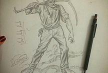 Karakalem / Karakalem Çizim / Charcoal Drawing