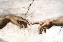 Renaissance / Renaissance:  Deze periode is te verdelen tot de vroege Renaissance tot 1420, de Hoog-Renaissance 1520-1530 en de laat-renaissancedie tot aan het begin van de 16e Eeuw duurde.  De grootste werken van de Renaissance werden gecreëerd in kerkelijke ordes, zoals de fresco's in de Sixtijnse Kapel in Rome of in de portretten van St. Peter. Michelangelo, Leonardo da Vinci en Raphael zijn zeker de bekendste vertegenwoordigers van deze stijl