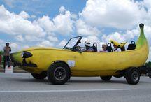 Banana vehicles / More than just cars & motorcycles - all kinds of banana transportation vehicles!