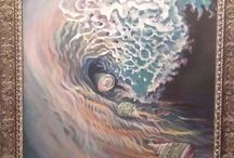 Seascapes—my original paintings / Recent and original work I've produced in oils on canvas and watercolor on paper.