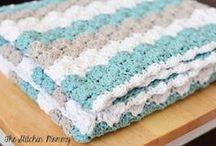 shell crochet blanket