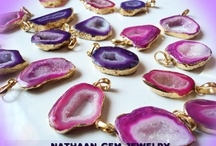 Druzy Stalacite Slice Quartz Crystal Drusy Gemstones are formed by the deposition of calcium carbonate and other minerals nOw available from nathaan-gem-jewelry