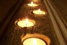 (Steiger)hout decoraties / Houten decoraties