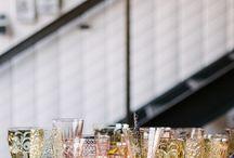 GLASSWARE / Pretty modern and vintage glassware inspiration.