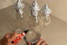 Plastic bottle fairy lamp