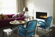 Rooms With Colour! / Living spaces with a flair of  vintage retro-cool vibe!