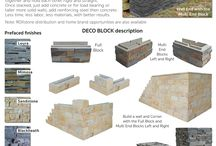 DECO BLOCK / Unique interlocking block wall system with natural stone options