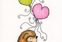Art - Hedgehogs