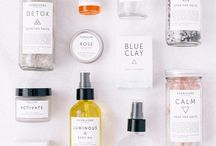 White Botanicals / Packaging with predominant color white