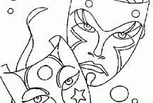 Mascaras / Maquillaje Teatral 1. Profesorado de Teatro 1er año.
