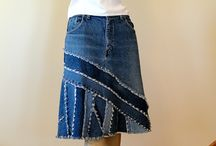 Denim skirt recycle