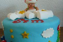 Taart supermario / Mario Luigie Supermario fondant cake