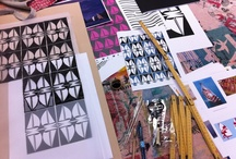 Screen Printing / A weekend print coarse at Bespoke Atelier - great fun to actually print fabric again with it being over 10 years since we sold our print table!!