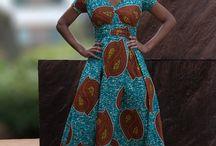 African Prints  / Long Ankara dress