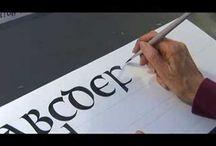Kaligrafie štětcem a perem - videa