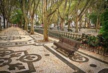 Trotuare, alei , treceri...texturi  ( Portugalia )