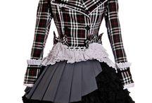 outfits lolita, goth, emo, punk