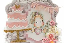 Magnolia cute handmade cards