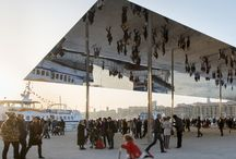Mirrored buildings / reflective architecture