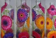 frascos pintados
