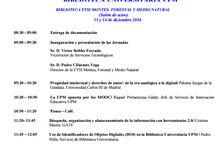 #jcbupm16 / XI Jornada de Comunicación Interna de Biblioteca UPM | ETSI Montes, Forestal y Medio Natural UPM 13/12/16 y 14/12/16 | @biblioUPM