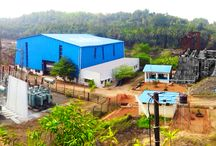 Panoramic view of Soham SMPPL power project / The Soham Mannapitlu Powe Private Limited SMPPL small hydroelectric project, located in Moodabidri , is a good example of a small size (Run of River) hydropower system. The system produces about 15,000 Kw of electricity .The photos show the powerhouse, which houses the turbine and generator.  Also shown is the intake system. The substation provides the connection to the electrical grid.