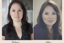 before and afters / with a little soft makeup and lustrous hair we can all look stunning and I have the photos to prove it.
