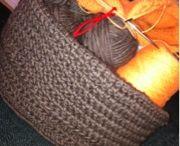 yarn-Crochet baskets