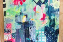 Malerier i mange farver