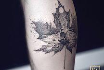 Maple leaf tattoos