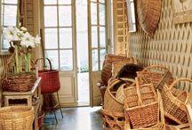 Rattan, straw hats & baskets