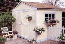 Decorated Garden Sheds