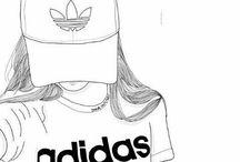 ragazze disegni tumblr