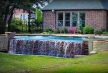 Negative Edge Swimming Pools Designs / Negative Edge Pool Examples by Premier Dallas Fort Worth Texas Swimming Pool Builder, Puryear Custom Pools.