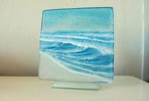 Fused glass / Seascape
