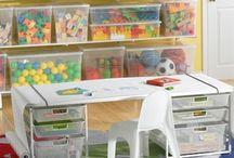 """Organizing Kids' """"Stuff"""" / Kids have a lot of """"stuff"""".  This board has ideas for organizing all of it so it doesn't take over your home!  Books, toys, games, memories, etc.  Great playroom organizing ideas too!"""