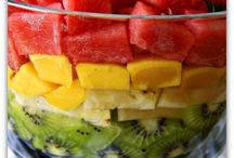 fruits, smoothies and salads