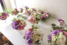 A wedding dress meeting place wrap, flower / ウェディング会場の装花
