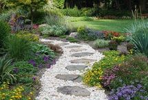 Beautiful garden paths and stairs