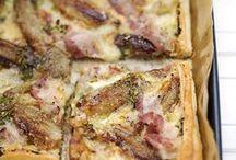 pizza con scalogni carammelati