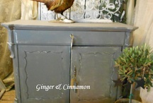 Restyled Antique / Restyled old antique furnitures  www.ginger-cinnamon.nl/Ambly Ornis