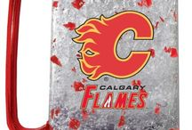 Flames Mancave / Sports merch for the mancave of Calgary Flames fans