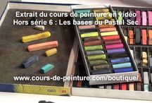Pastels tutos | Colored pencils / Tutoriels pour cayons pastels Tutorials for pastel painting