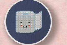 bathroom cross stitch