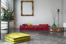 Pisos de concretos / Coletânea de imagens para avaliação de sugestões de pisos para residência.