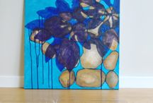 My Paintings / Display of my own artwork (Rikke Ekelund)