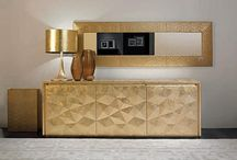 Golden Interiors / The touch of gold makes modern interiors shine with joy :)