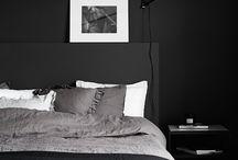 Color: Black wall