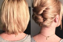 Idees chignons cheveux courts, coiffures fille