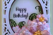 Oval frame birthday card